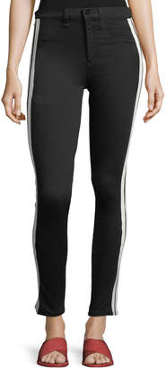 Rag & Bone Mito High-Rise Skinny Jeans with Tux Stripes