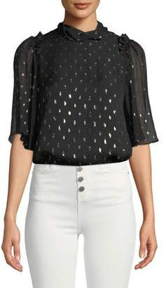 Camilla And Marc Jasmeen Flutter-Sleeve Silk Top