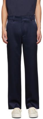 Sies Marjan Navy Satin Trousers
