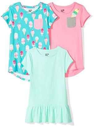 Spotted Zebra Big Girls' 3-Pack Short-Sleeve Tunic Tops
