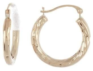 Candela 14K Yellow Gold Twisted Hoop Earrings