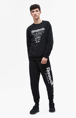 Reebok GP Unisex Black Fleece Jogger Pants