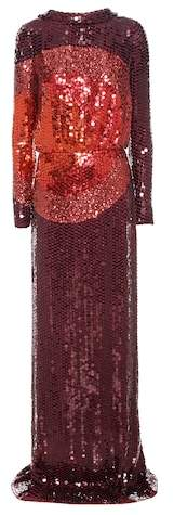 Tom Ford Sequin-embellished silk gown