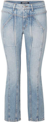 Adaptation Rider Cropped Paneled High-rise Skinny Jeans - Mid denim
