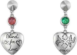 Gucci Blind for Love earrings in silver
