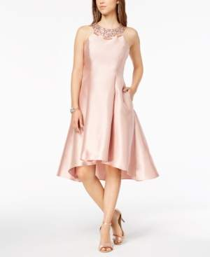 Adrianna Papell Rhinestone High-Low Dress