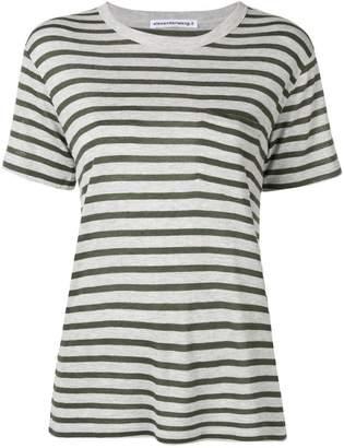 Alexander Wang striped slub pocket t-shirt