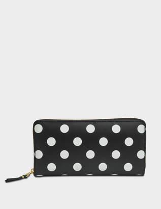 Comme des Garcons Polka Dots zip wallet