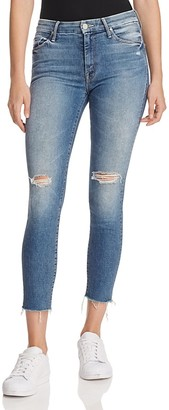 MOTHER The Looker Ankle Fray Jeans in Furiously Happy $238 thestylecure.com