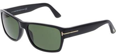 Sunglasses Tom Ford MASON TF 445 FT 01N shiny black / green