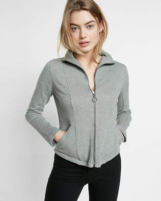 Express Gray Zip Front High Neck Jacket