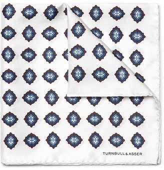Turnbull & Asser Printed Silk-Twill Pocket Square