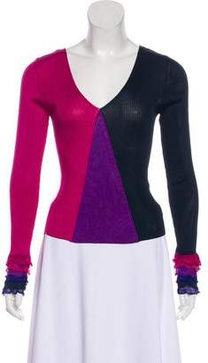 Chanel Knit Colorblock Top