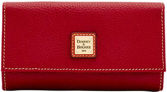 Dooney & Bourke Pebble Grain Framed Continental Wallet