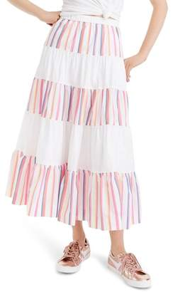 J.Crew J. Crew French Creek Mixy Stripe Skirt