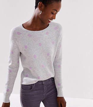 LOFT Dot Jacquard Sweater