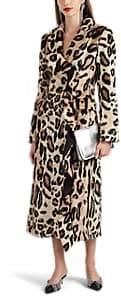 Area Women's Filomena Ruffle Faux-Fur Double-Breasted Coat