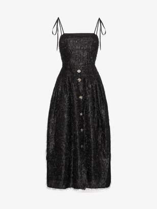 Issy Rejina Pyo fringe dress with thin straps