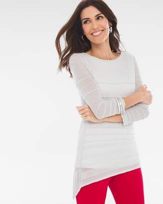 Travelers Collection Silver Shimmer Sweater