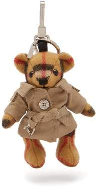 Burberry Thomas Bear Trenchcoat Cashmere Key Ring - Womens - Brown Multi