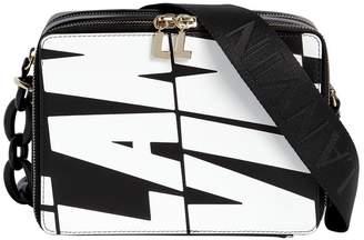 Lanvin Logo Printed Leather Camera Bag