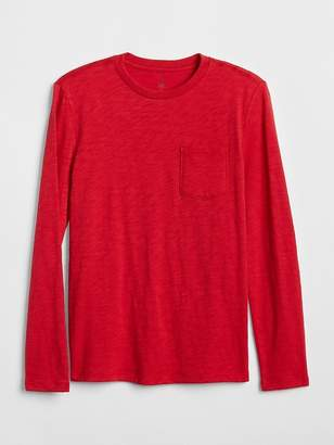 Gap Pocket Long Sleeve T-Shirt