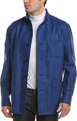 David Donahue Wool-Blend Shirt Jacket