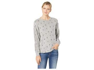 Bobeau B Collection by Avah Ruched Long Sleeve Pullover