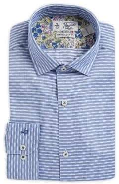 Original Penguin Slim-Fit Stripe Spread-Collar Dress Shirt