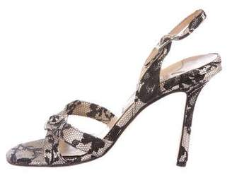Jimmy Choo Lace Slingback Sandals