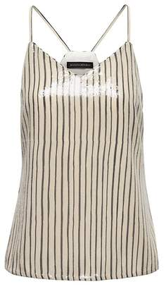 Banana Republic Stripe Vee Camisole