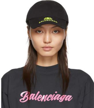 Balenciaga Black and Yellow New Logo Cap