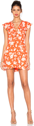 J.O.A. Sleeveless Lace Up Floral Dress $87 thestylecure.com