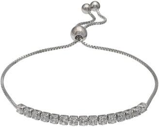 74bc580d7 Primrose Sterling Silver Cubic Zirconia Bar Adjustable Bracelet