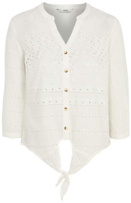 George Cream Broderie Anglaise Shirt