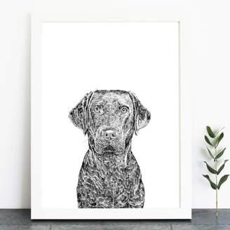 Ros Shiers Labrador Print