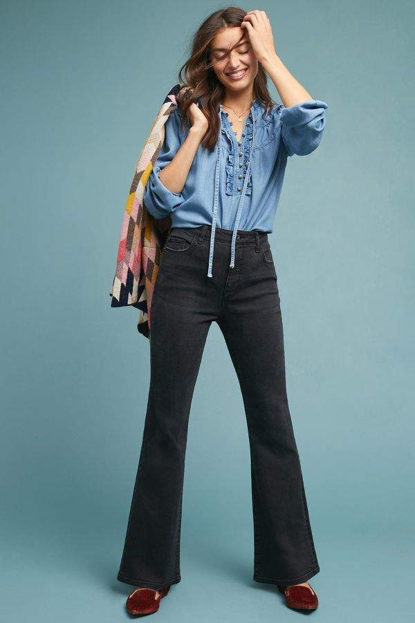 Pilcro and the Letterpress Pilcro High-Rise Curvy Bootcut Jeans