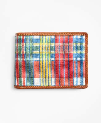 Brooks Brothers Madras Needlepoint Wallet
