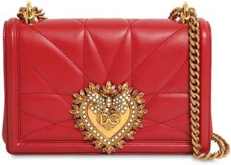 Dolce & Gabbana (ドルチェ & ガッバーナ) - DOLCE & GABBANA DEVOTION スモール キルトレザーバッグ