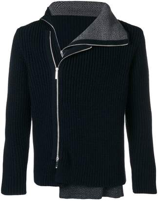 Emporio Armani side zipped cardigan