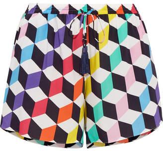 Emma Pake - Vita Printed Jersey Shorts - Purple