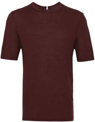 Lot 78 Lot78 oxblood cashmere short sleeve t shirt