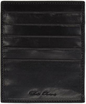 Rick Owens Black Multiple Card Holder $275 thestylecure.com