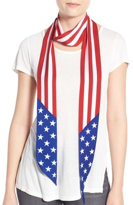 Collection XIIX 'American Flag' Skinny Scarf $24 thestylecure.com