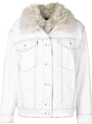 Alexander Wang denim shearling jacket