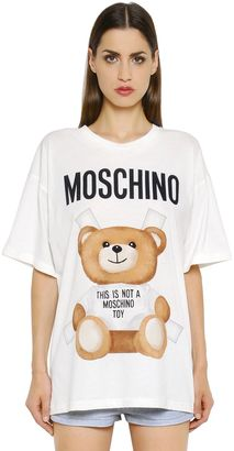 Oversized Bear Printed Jersey T-Shirt $225 thestylecure.com