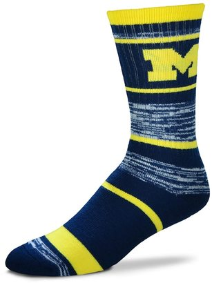 For Bare Feet Adult For Bare Feet Michigan Wolverines RMC Stripe Crew Socks