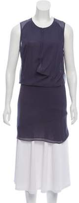 Acne Studios Silk Sleeveless Dress Purple Silk Sleeveless Dress