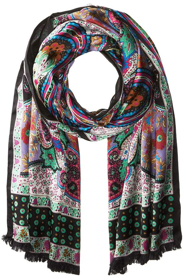 Echo Design - Paisley Double-Faced Silk Wrap Scarves