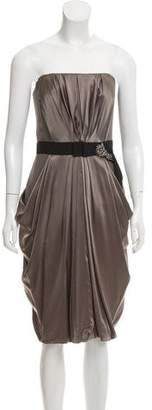 J. Mendel Silk Mini Dress